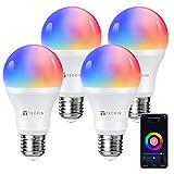 Alexa Smart Glühbirnen, TECKIN Rgb E27 WLAN Lampe...