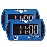 2X Park Mini Blau elektronische Parkscheibe Digitale Parkuhr...
