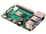 Raspberry Pi 4 Modell B; 4GB, ARM-Cortex-A72 4 x, 1,50GHz, 4GB...